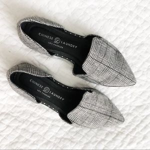 Shoes - Houndstooth Plaid Flats